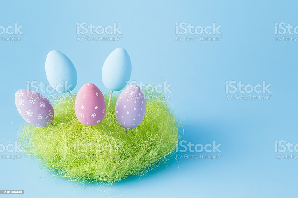Easter composition stock photo
