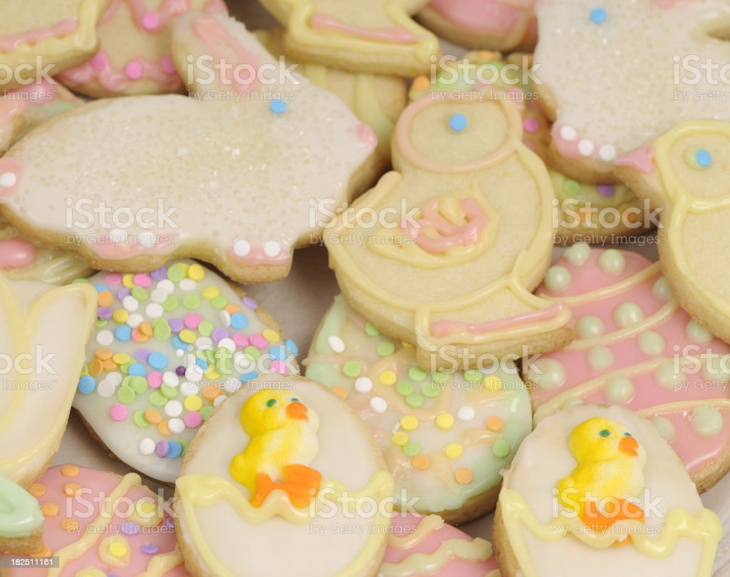 Easter cookie background royalty-free stock photo