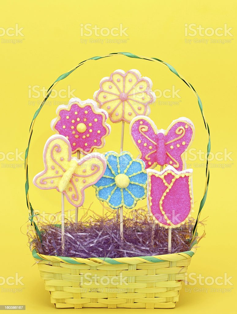 Easter Cookie Bouquet royalty-free stock photo