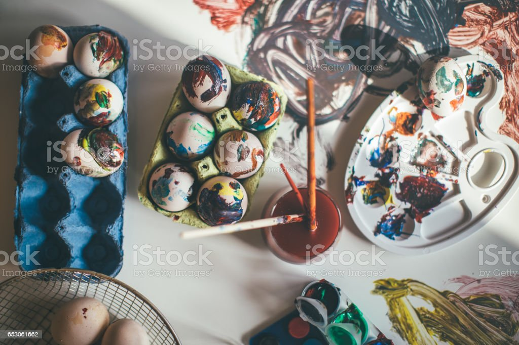 Easter craft stock photo