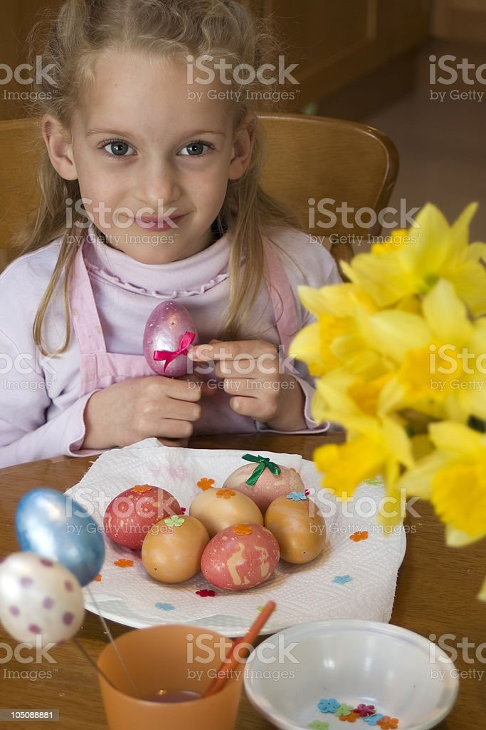 Easter crafts royalty-free stock photo