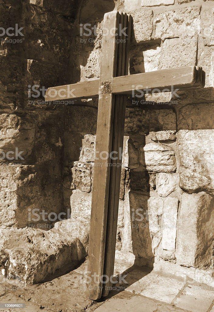easter cross in Jerusalem royalty-free stock photo