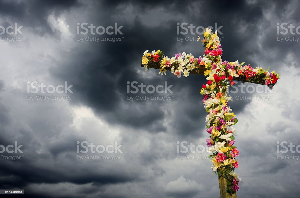 Easter Cross royalty-free stock photo