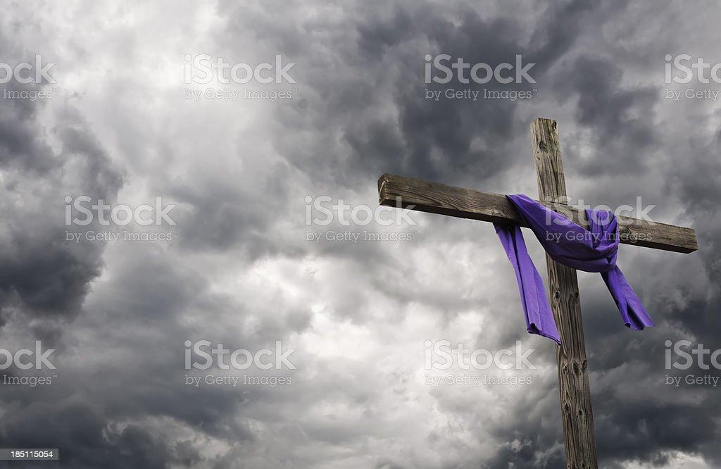Easter Cross stock photo