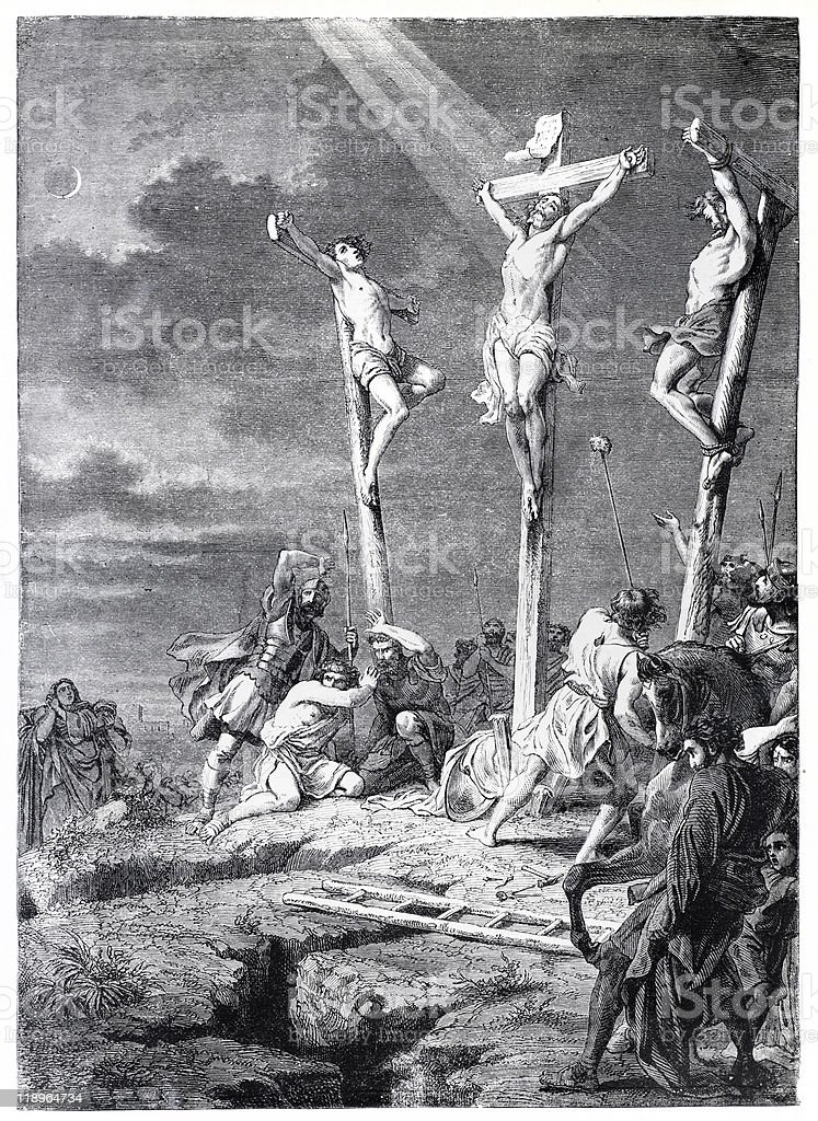 Easter Crucifixtion of Jesus stock photo