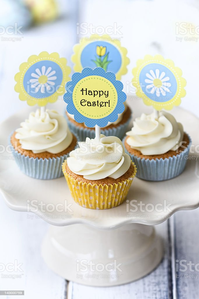 Easter cupcakes royalty-free stock photo
