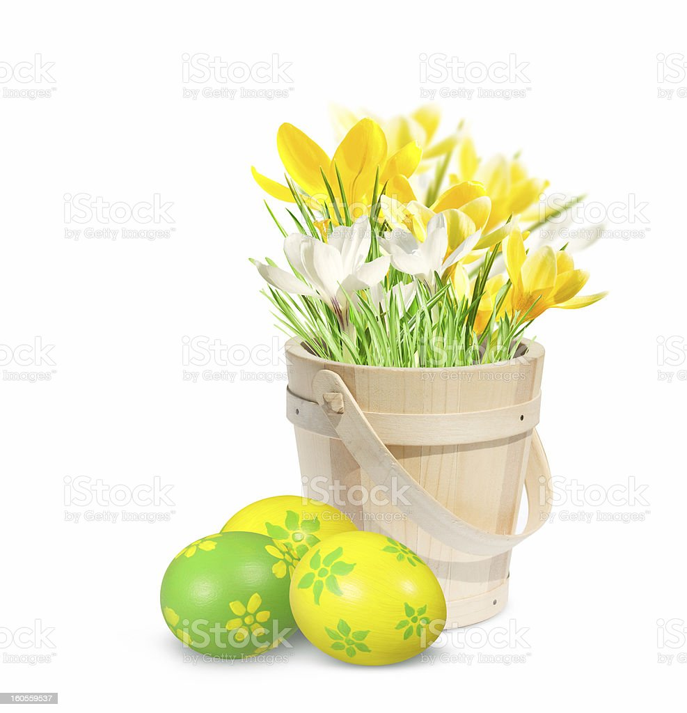Easter decoration with eggs. royalty-free stock photo