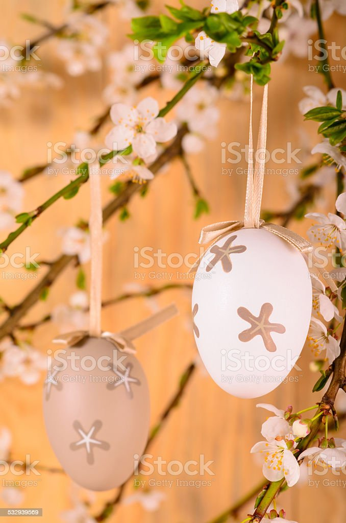 Decorativo huevos de Pascua foto de stock libre de derechos