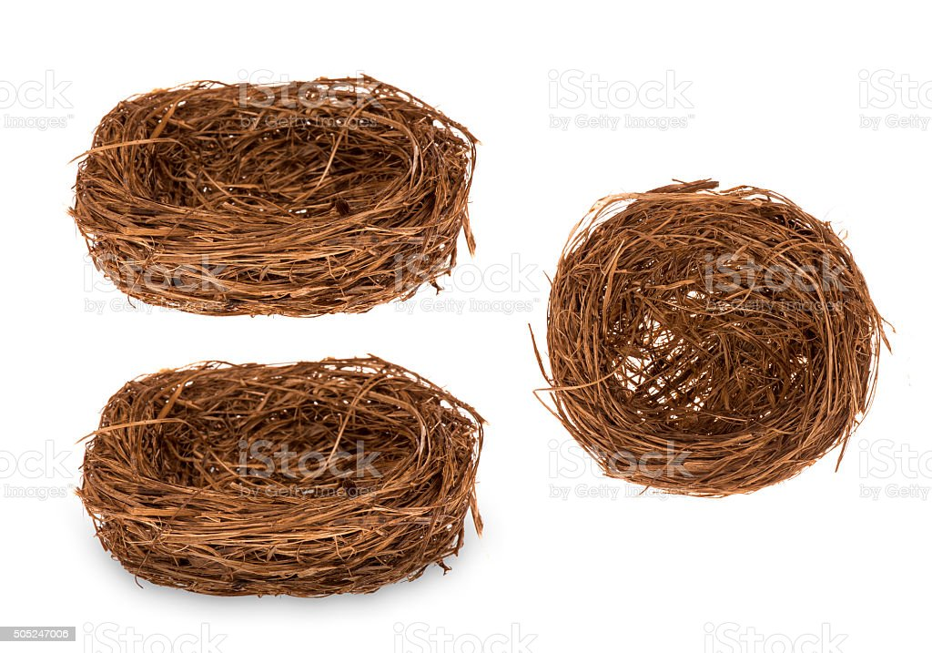 Easter - decorative nest for eggs isolated. stock photo