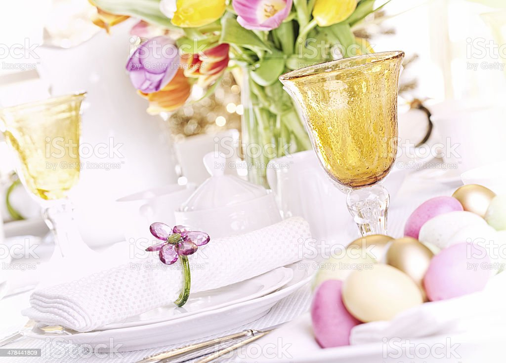 Easter Dining royalty-free stock photo