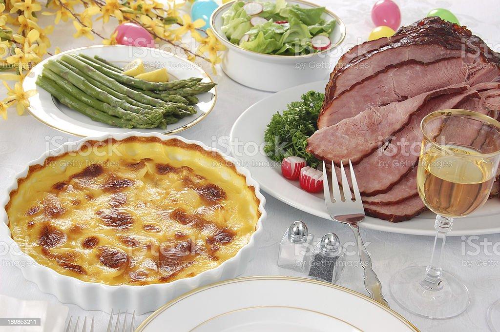 Easter Dinner royalty-free stock photo