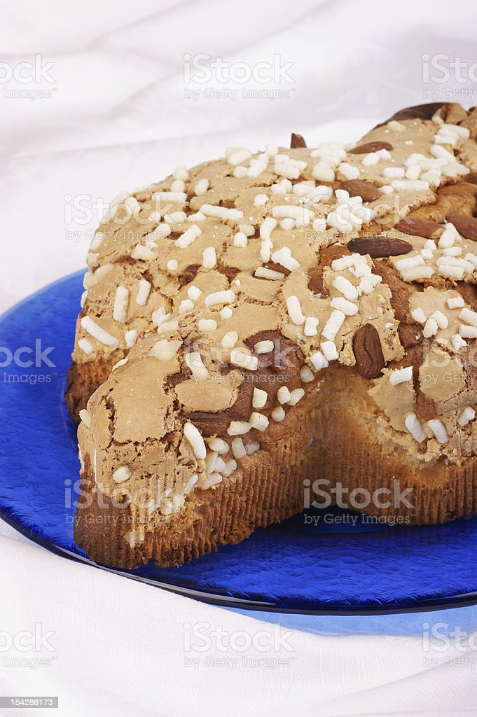 Colomba pasquale royalty-free stock photo