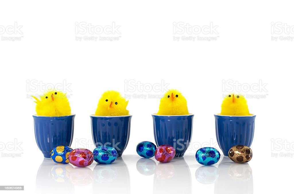 easter ducks and eggs royalty-free stock photo
