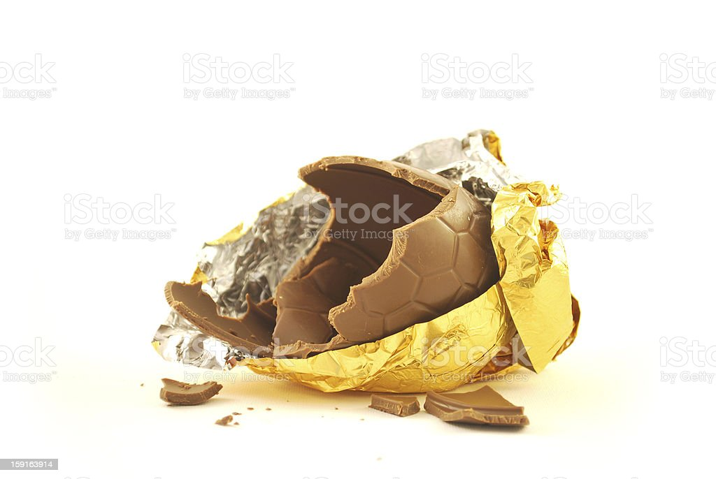 easter egg, 1/4 eaten royalty-free stock photo