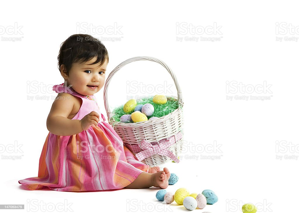 Easter Egg Baby royalty-free stock photo