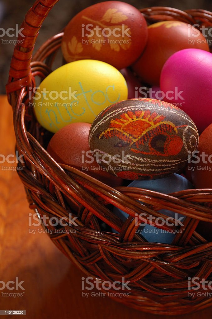 Easter Egg Basket 8 royalty-free stock photo