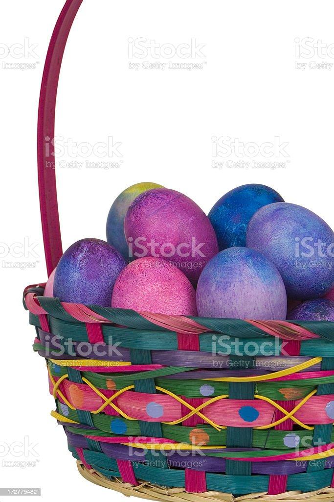 Easter Egg Basket stock photo