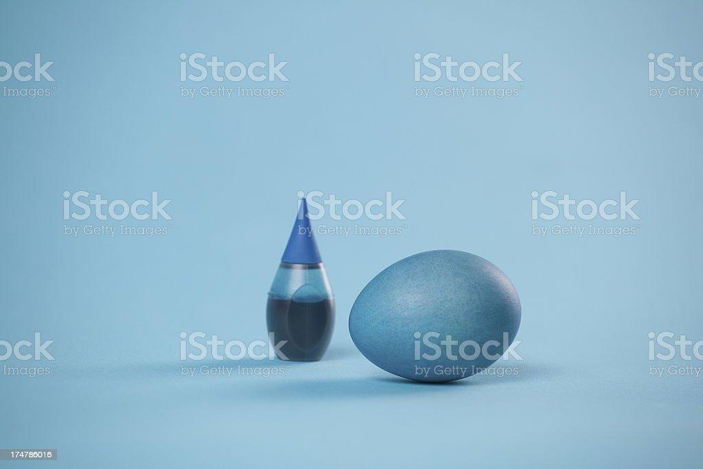 Easter Egg Blue stock photo