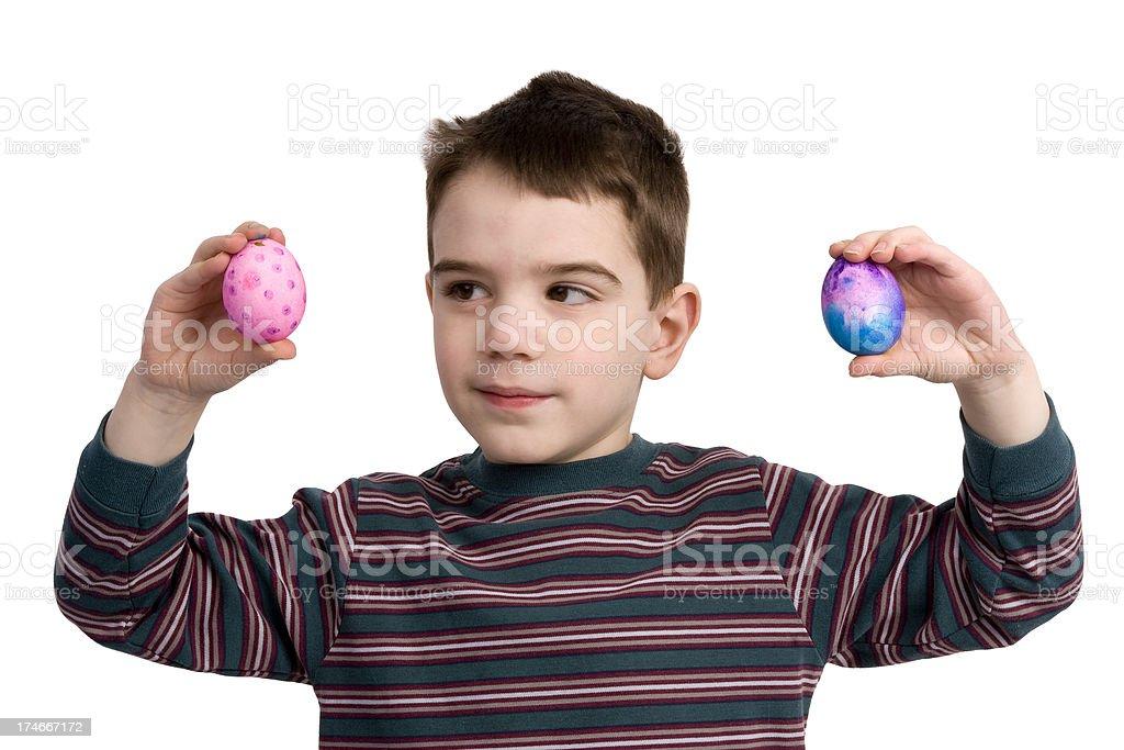 Easter Egg boy stock photo