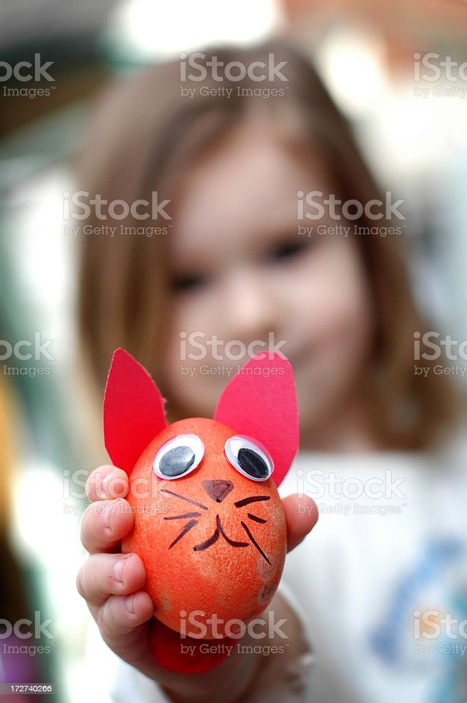 Easter Egg Bunny royalty-free stock photo