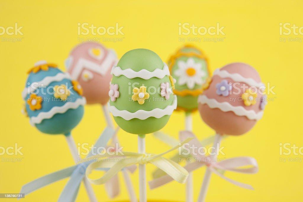 Easter egg cake pops royalty-free stock photo