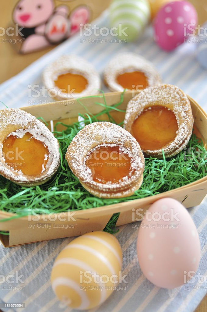 Easter Egg Cookies royalty-free stock photo