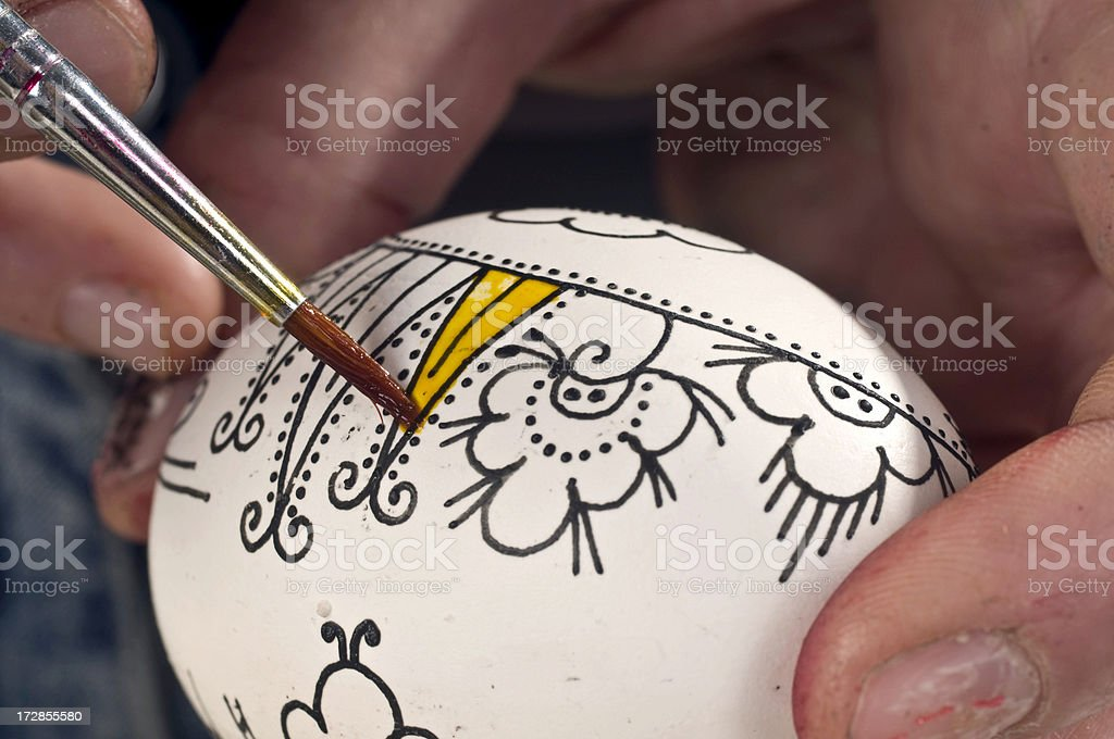 easter egg decorating royalty-free stock photo