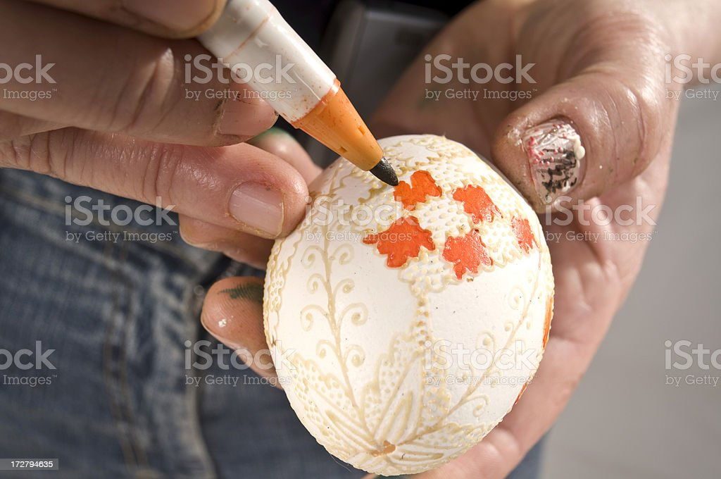 easter egg decoration royalty-free stock photo