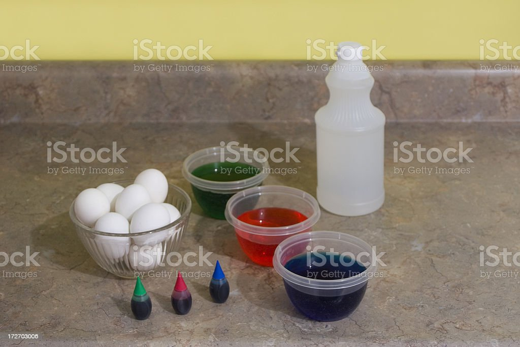Easter Egg Dying royalty-free stock photo