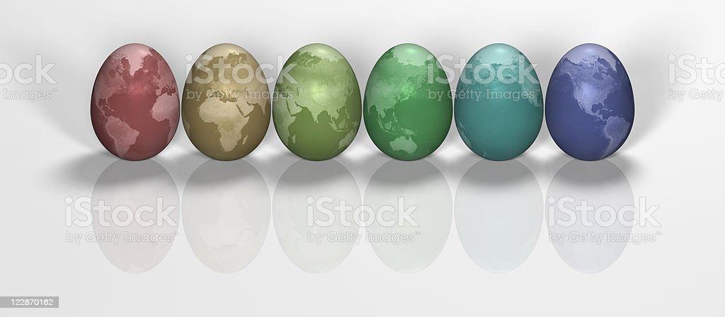 Easter Egg Earth Rainbow royalty-free stock photo