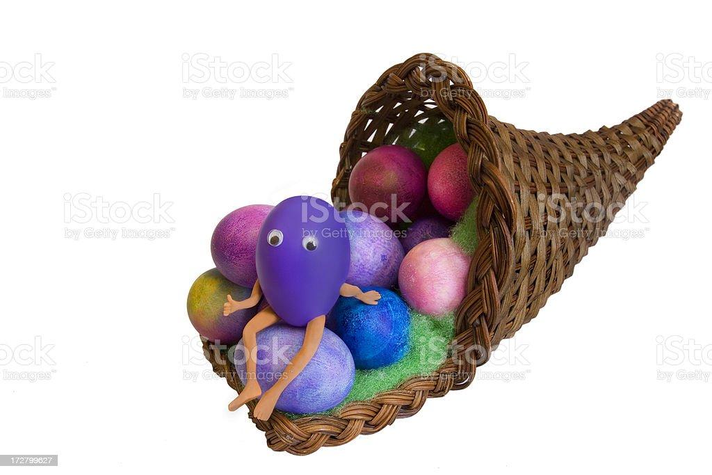 Easter Egg Guy stock photo
