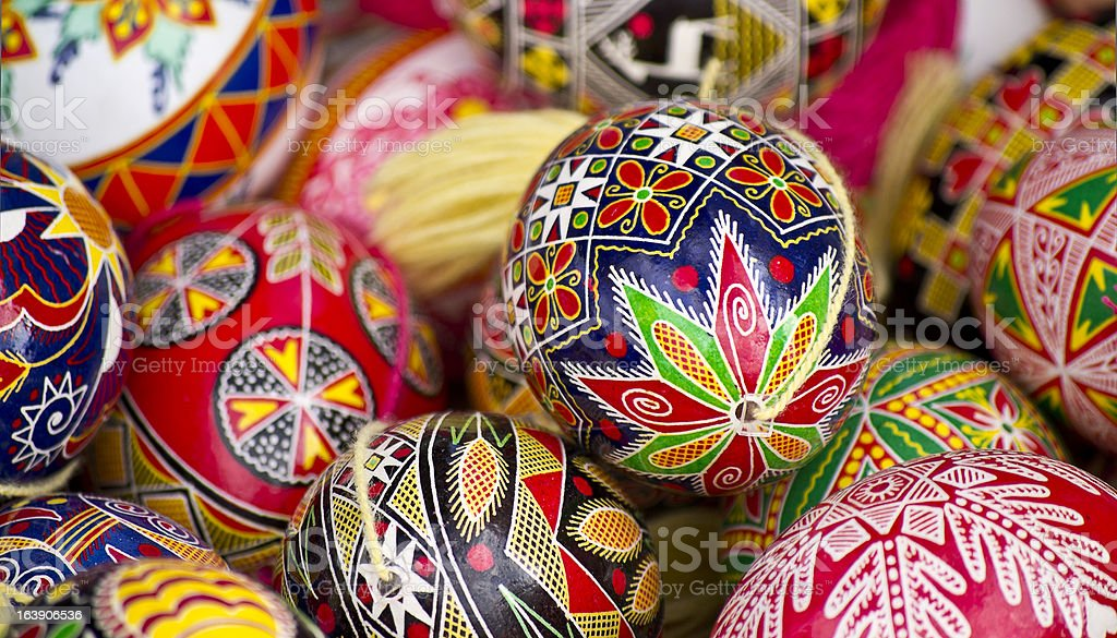 Easter egg, hand painted beautiful and colorful royalty-free stock photo