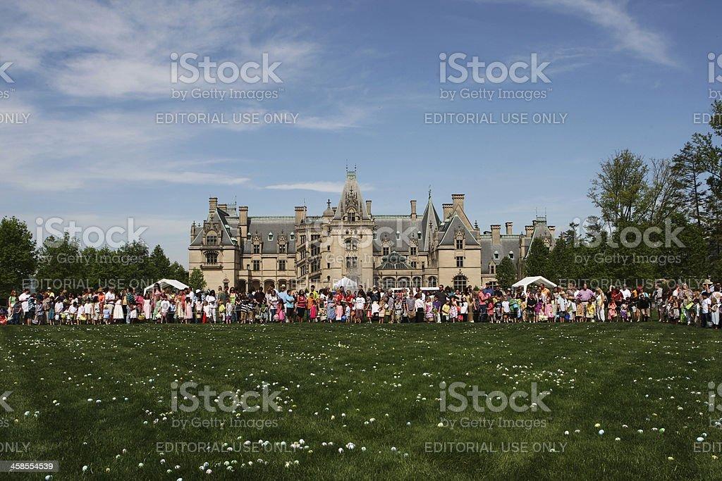 Easter Egg Hunt at Biltmor Estate, USA stock photo