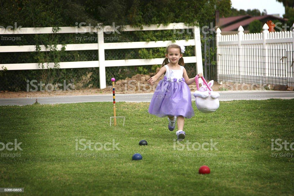 Easter Egg Hunt, Easter Series royalty-free stock photo