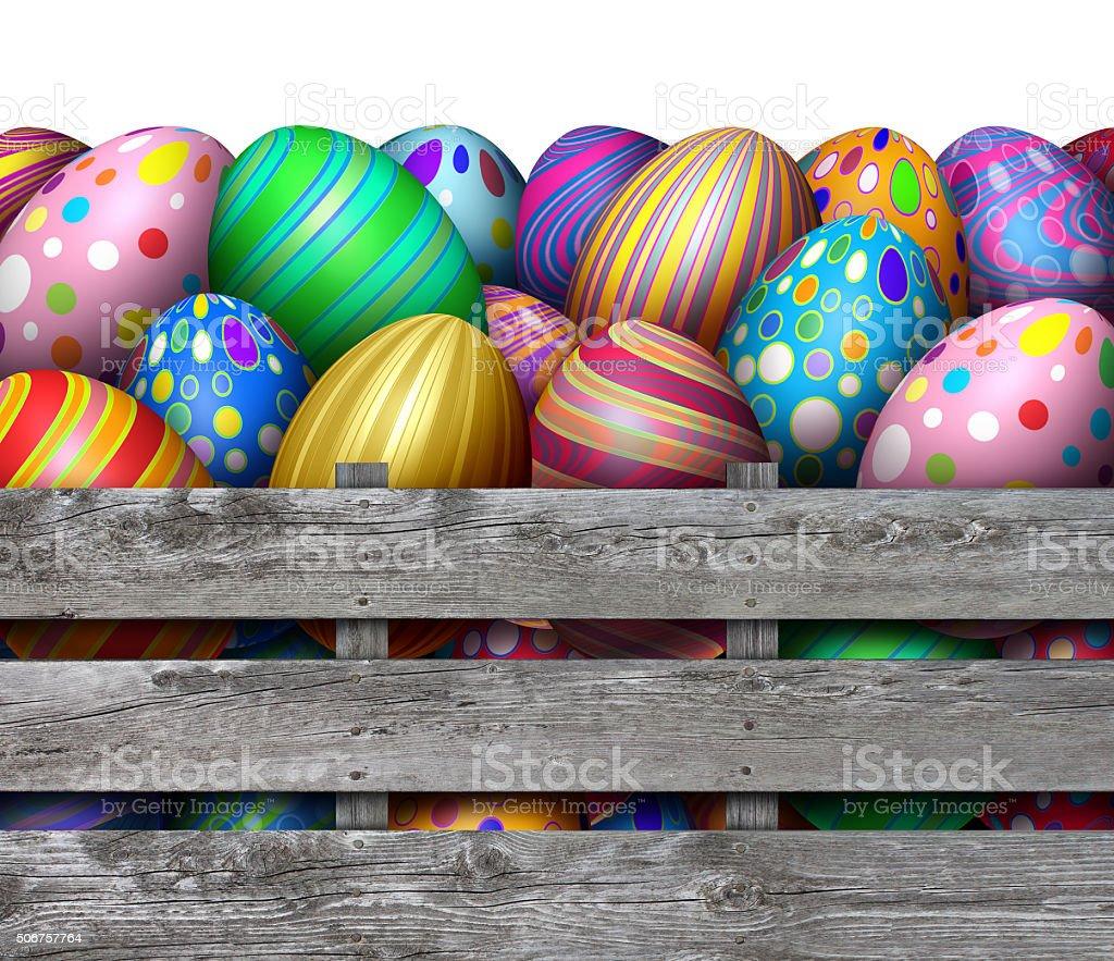 Easter Egg Hunt Harvest stock photo