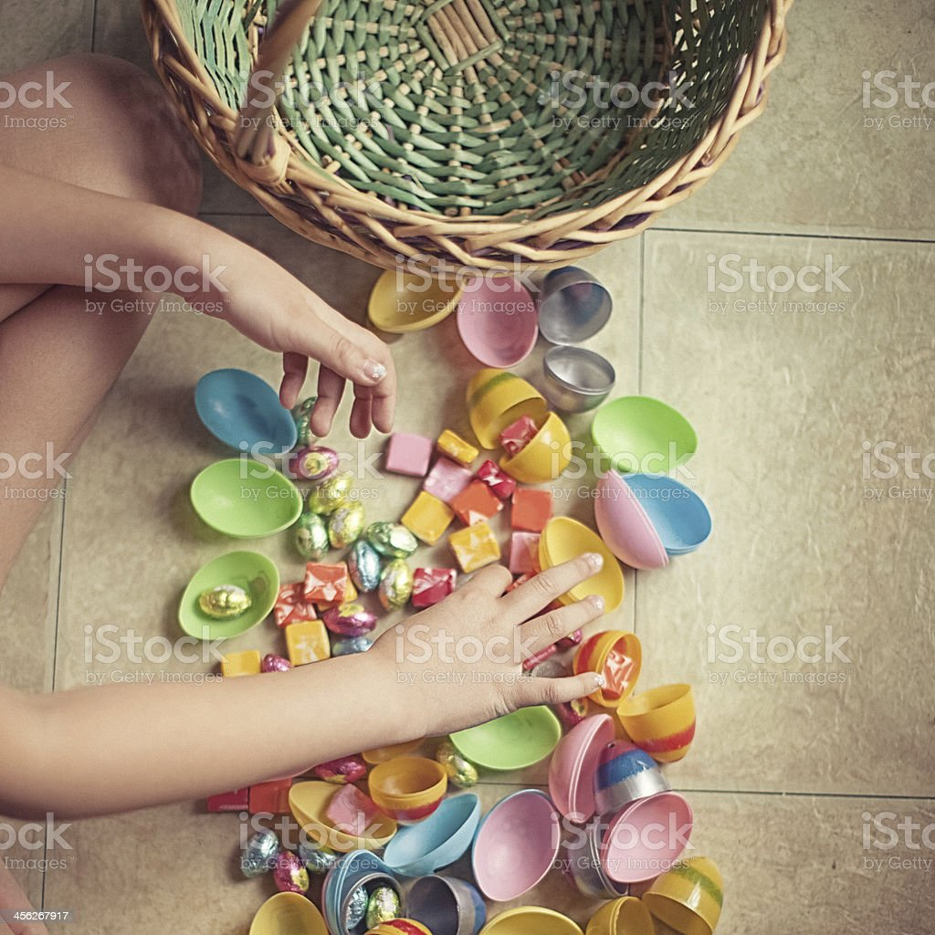 easter egg hunt royalty-free stock photo