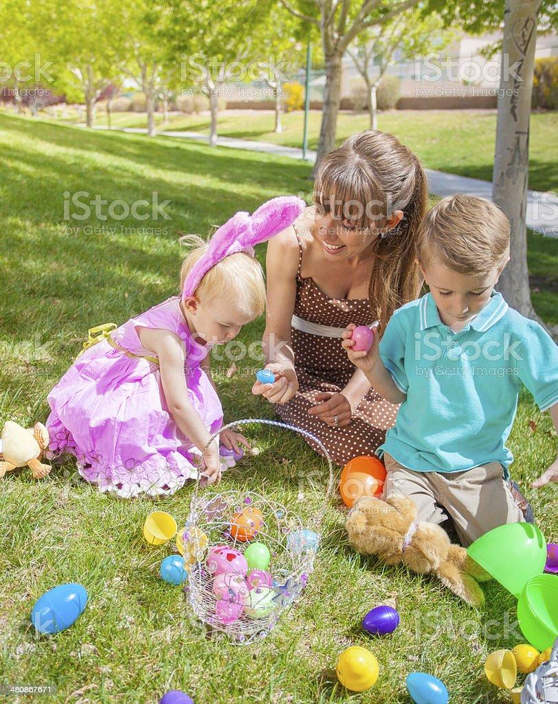 Easter Egg Hunt stock photo