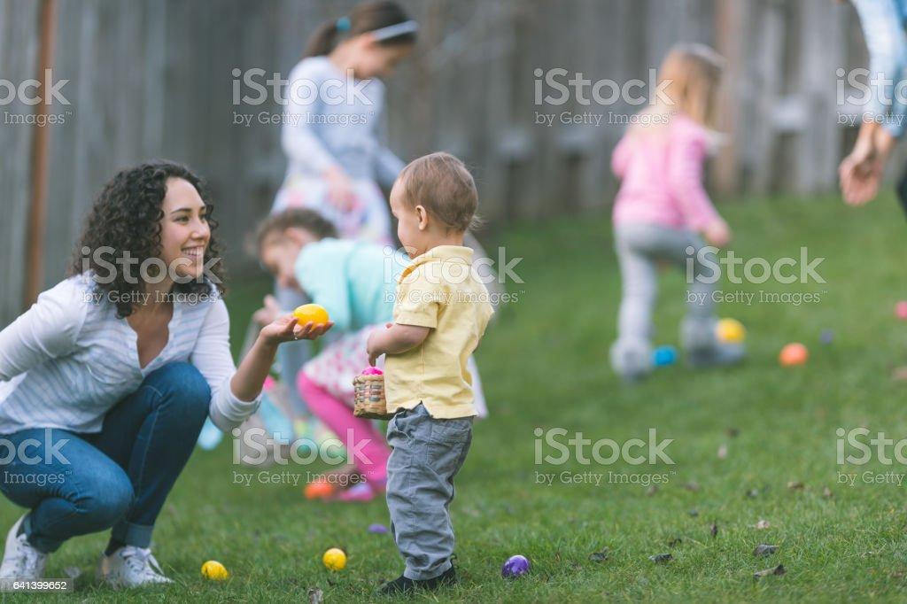 Easter Egg Hunt! stock photo