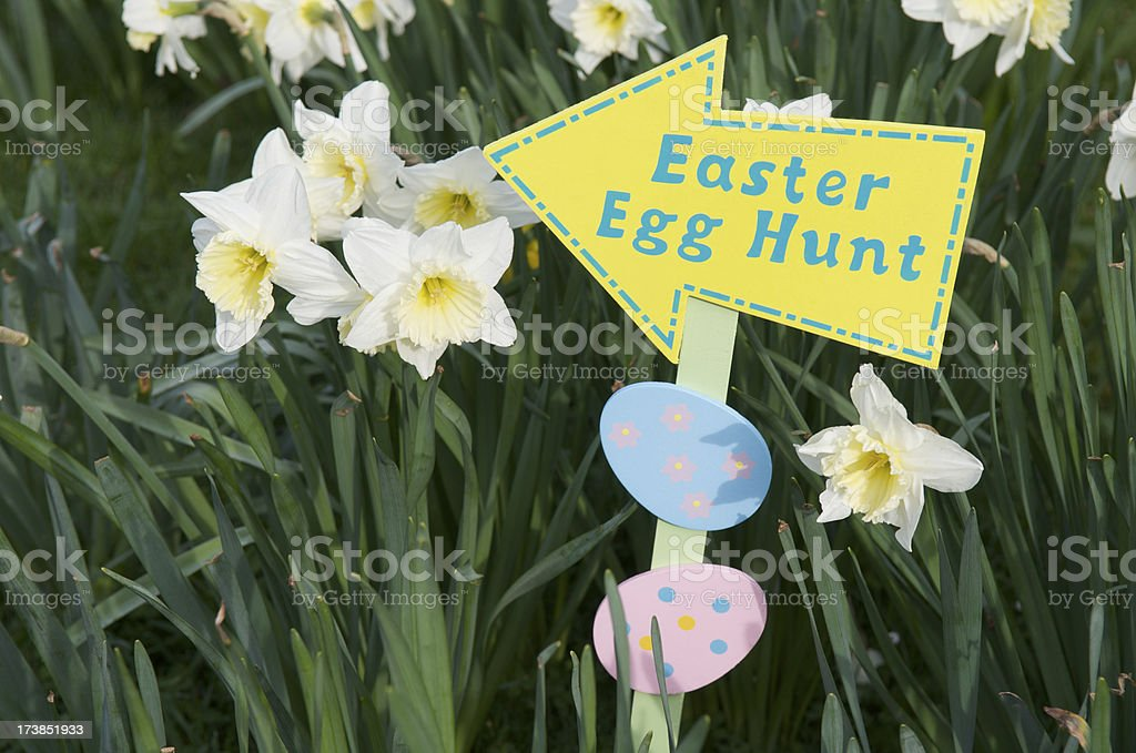 Easter Egg Hunt Sign Horizontal royalty-free stock photo