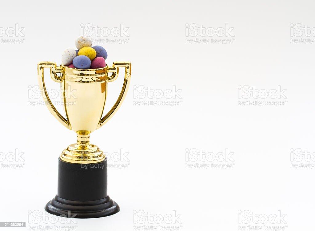 Easter Egg Hunt Trophy stock photo