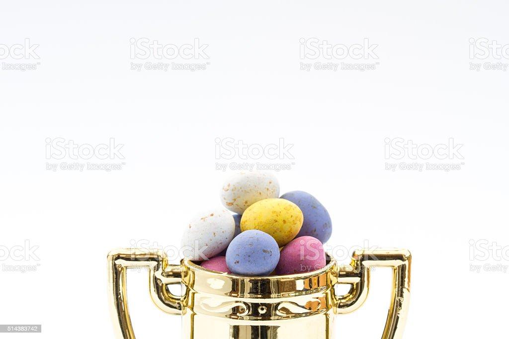 Easter Egg Hunt Winner's Trophy stock photo