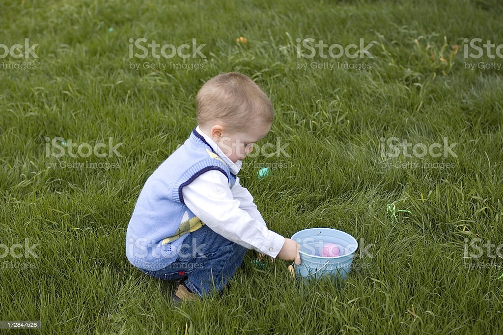Easter Egg Hunting royalty-free stock photo