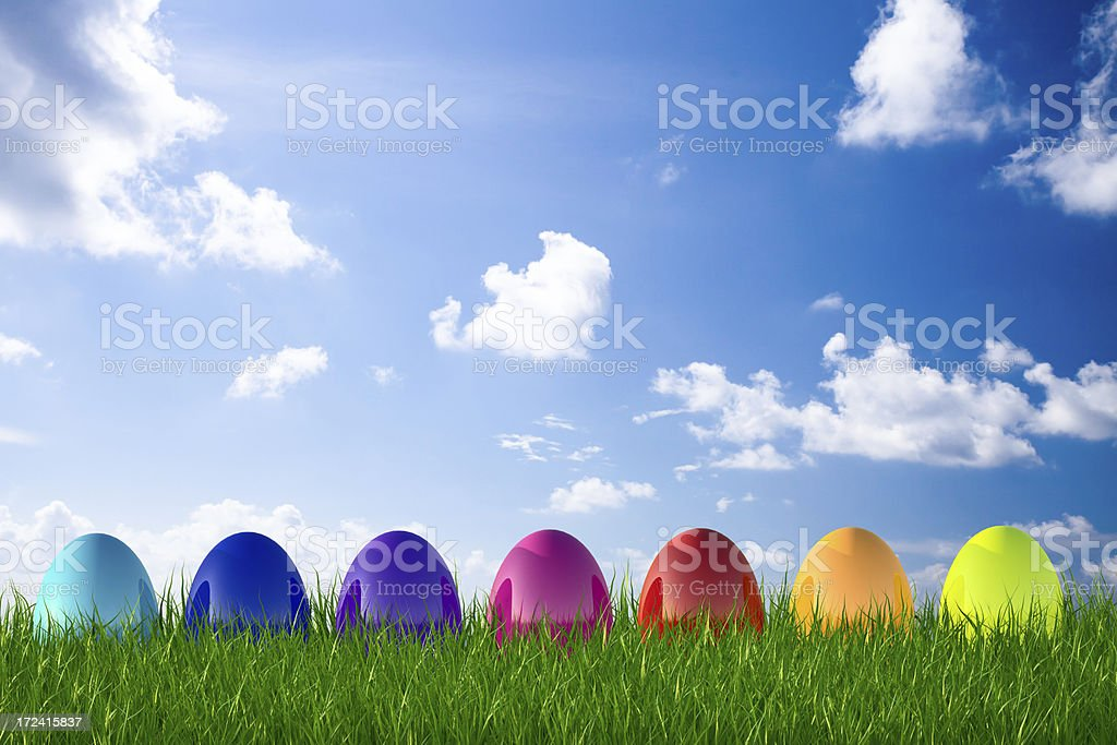 Easter egg in sky royalty-free stock photo