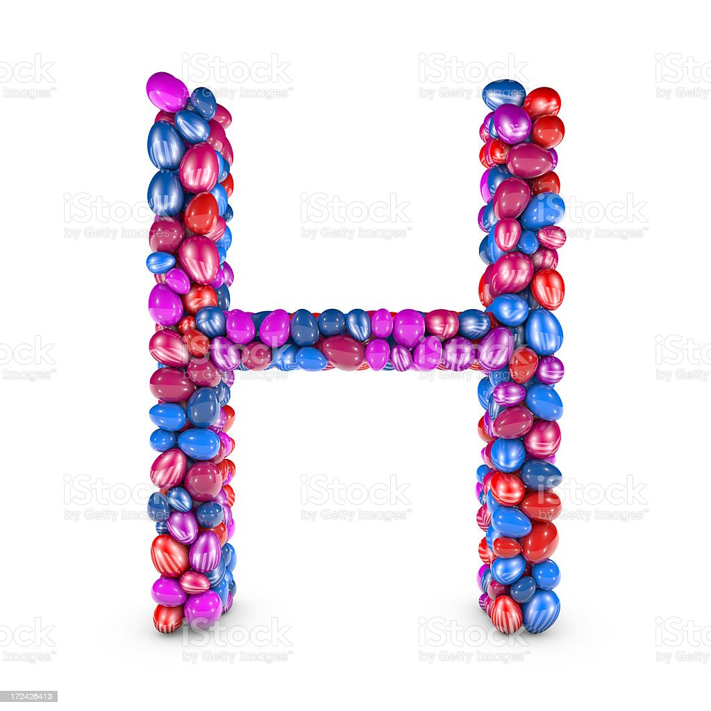 Easter Egg Letter H royalty-free stock photo