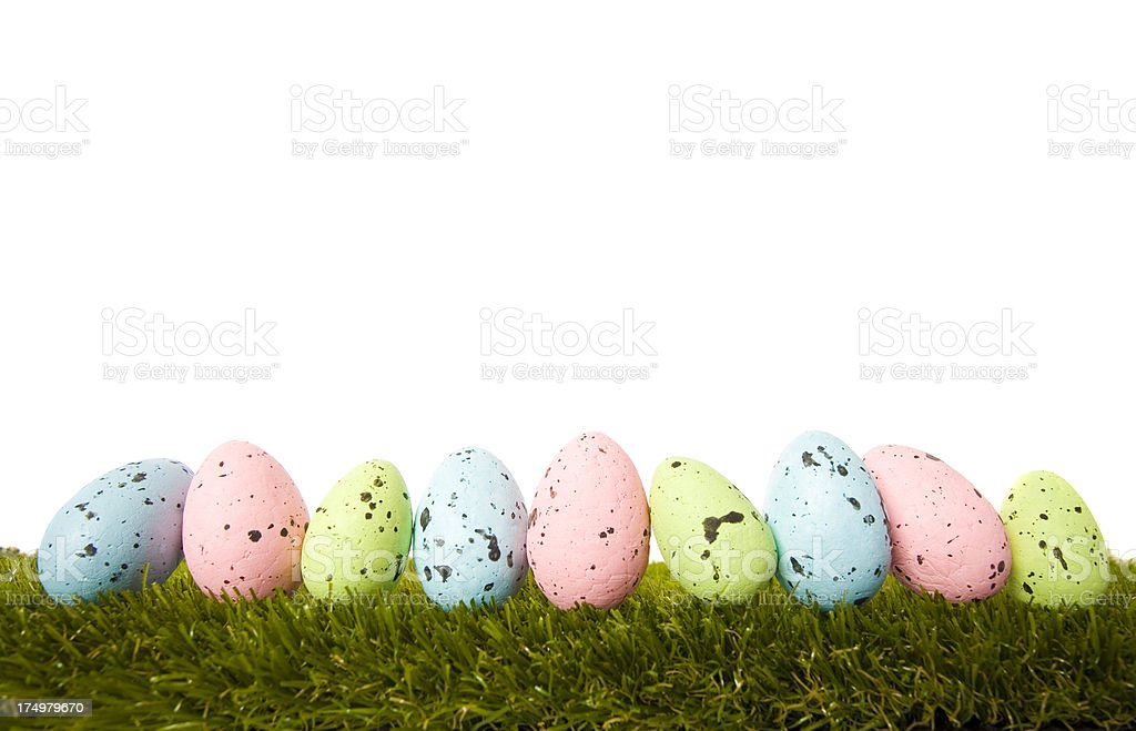 Easter Egg Line royalty-free stock photo