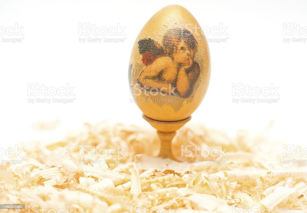 easter egg made decoupage methods royalty-free stock photo