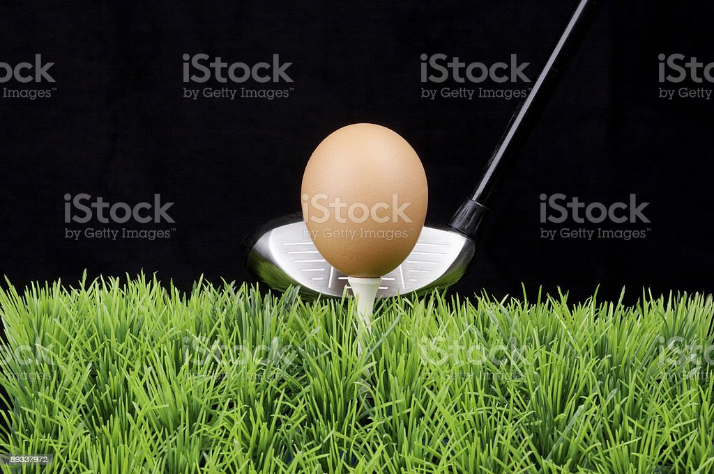 Easter egg on tee royalty-free stock photo
