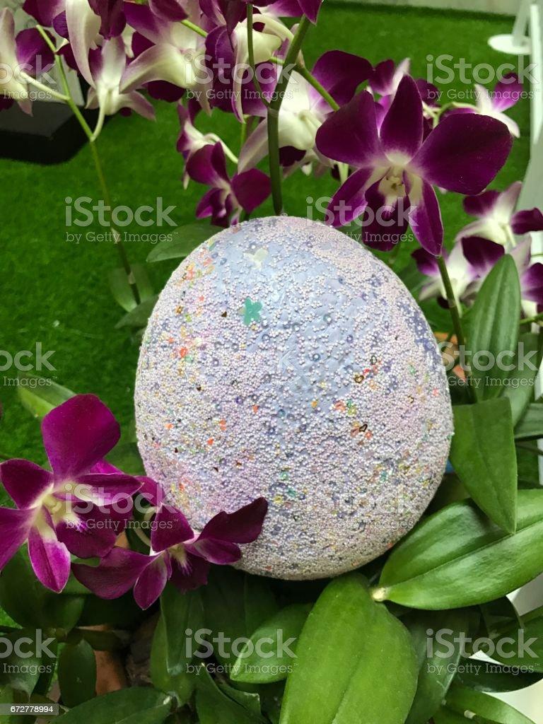 Easter egg or Paschal egg. stock photo