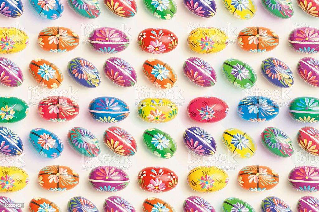 Easter egg pattern 2 stock photo