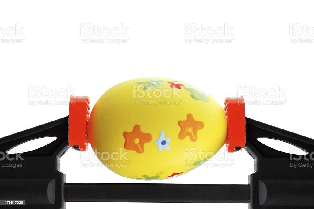 Easter egg pressed royalty-free stock photo